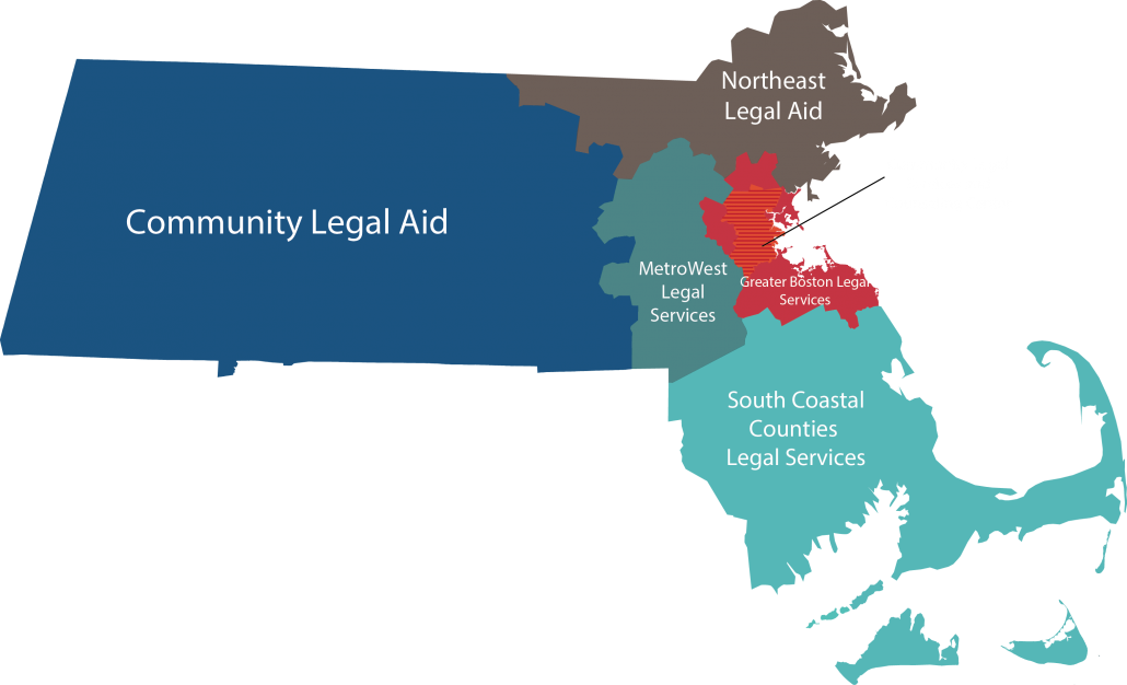 Massachusetts Legal Aid Program Map