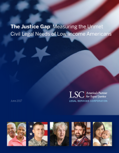 Justice Gap Report Cover