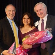From left: BHCHP CEO Barry Bock, Rafik and BHCHP's president and founder, O'Connell