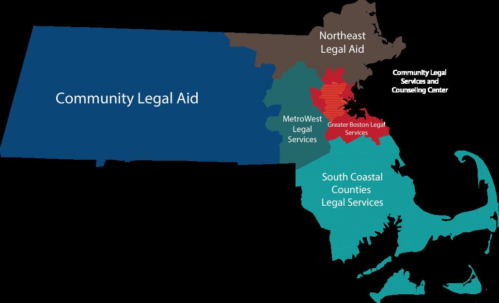 Massachusetts Legal Aid Program Map