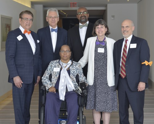 Richard Vitali, Lonnie Powers, Maria Matos, Rahsaan Hall, Marijane Benner Browne, and Hon. Robert Foster